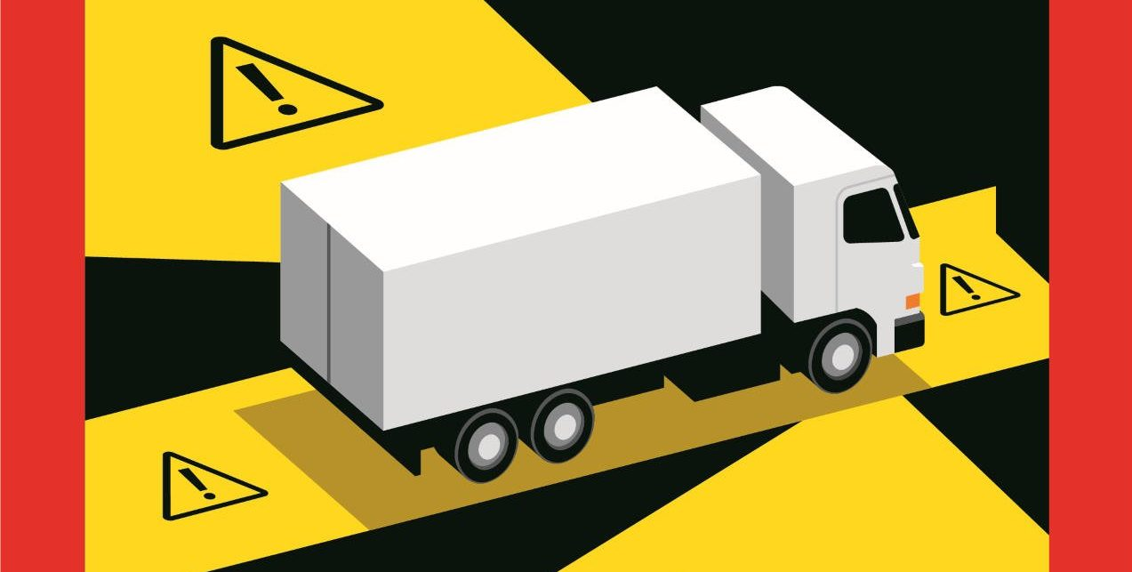 image illustration article Nouvelle signalisation des angles morts sur les véhicules lourds